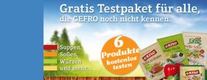 kostenlose Proben von Gefro