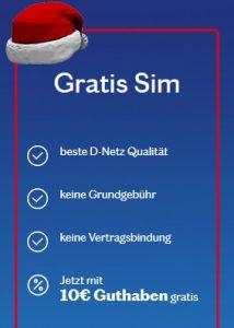 SIM Karte gratis mit Startguthaben