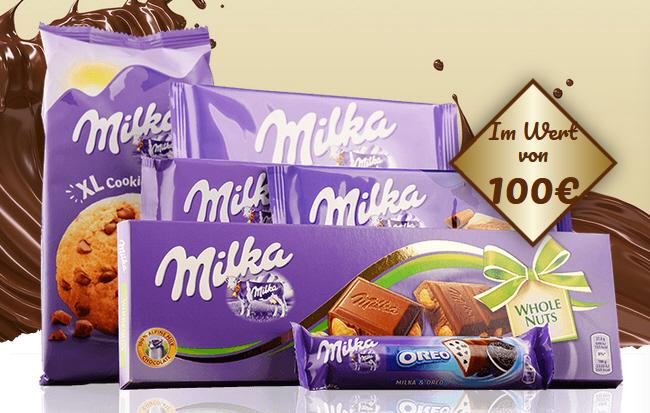 Milka Schokolade gratis