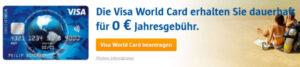 kostenlose Visakarte bestellen